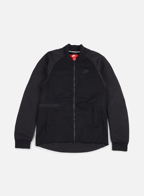 giacche nike woven varsity jacket black black