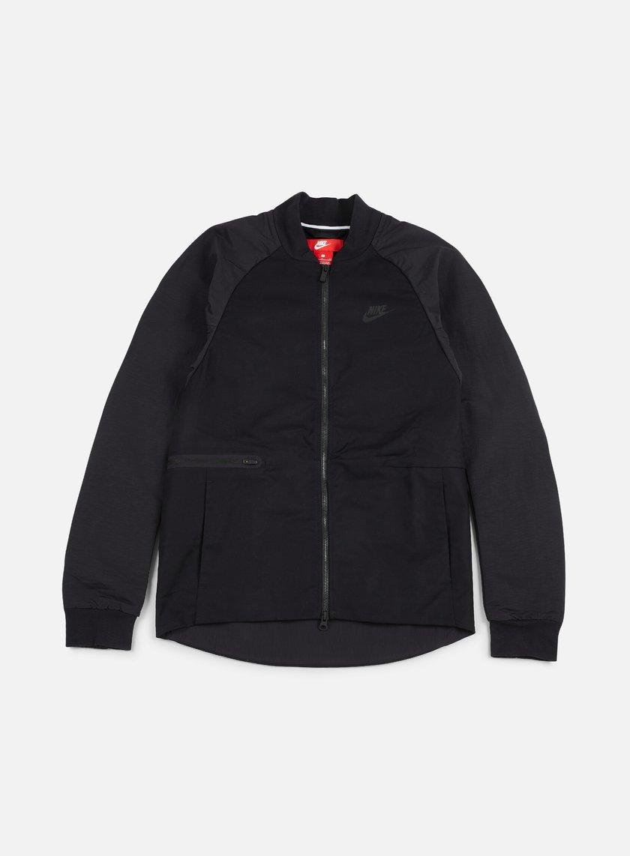 Nike - Woven Varsity Jacket, Black/Black