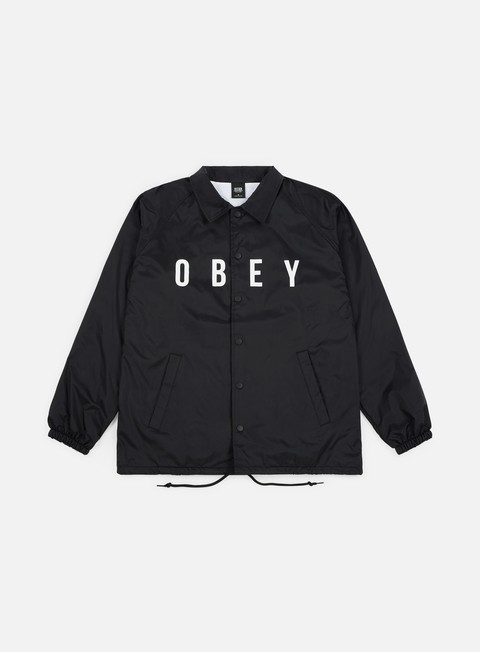 giacche obey anyway coach jacket black
