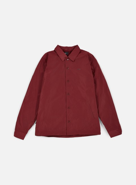giacche obey baker graphic jacket burgundy
