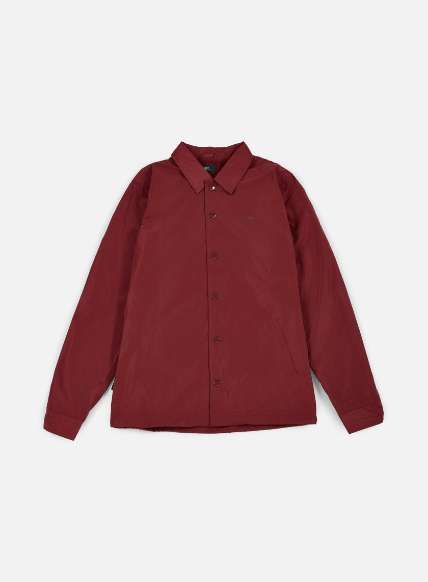 Obey - Baker Graphic Jacket, Burgundy