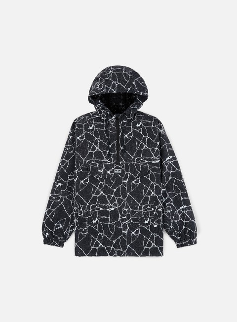 Hooded Jackets Obey Concrete Anorak Jacket