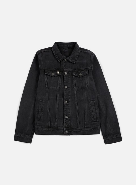giacche obey creeper denim jacket dusty black