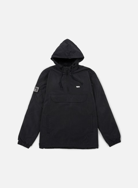 giacche obey crosstown anorak black