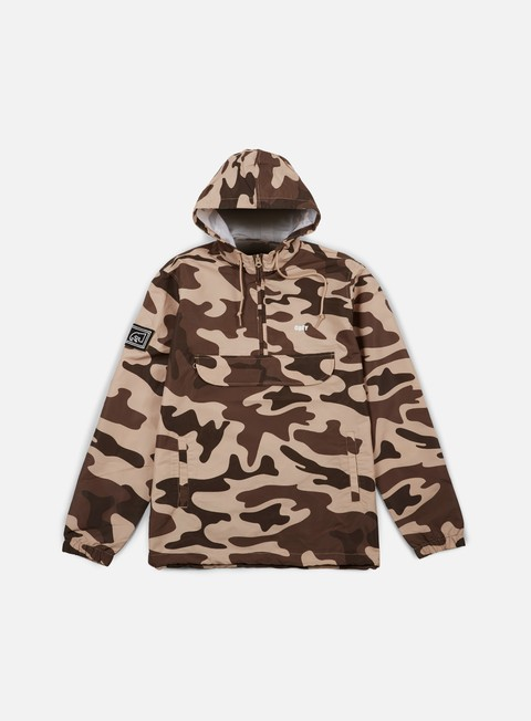 giacche obey crosstown anorak camo