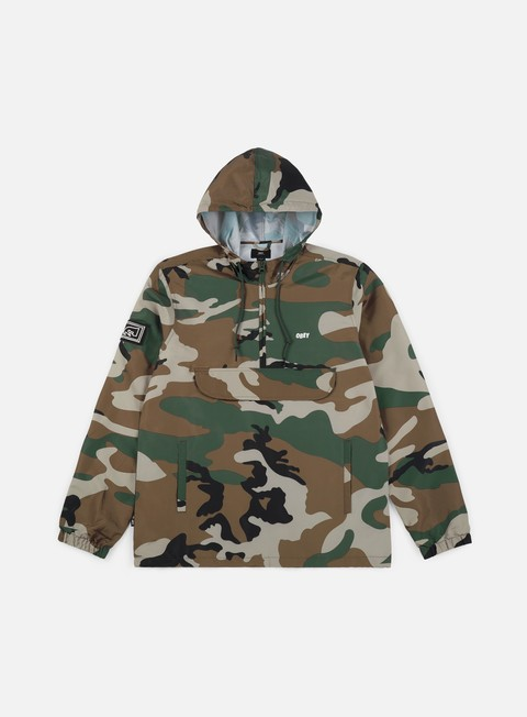 giacche obey crosstown anorak jacket field camo