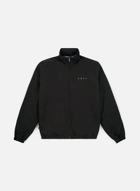 giacche obey debaser ii jacket black