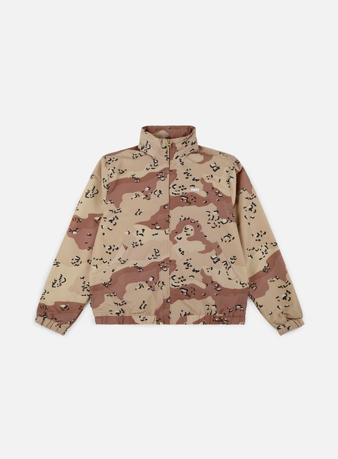 giacche obey debaser shell jacket choco chip camo