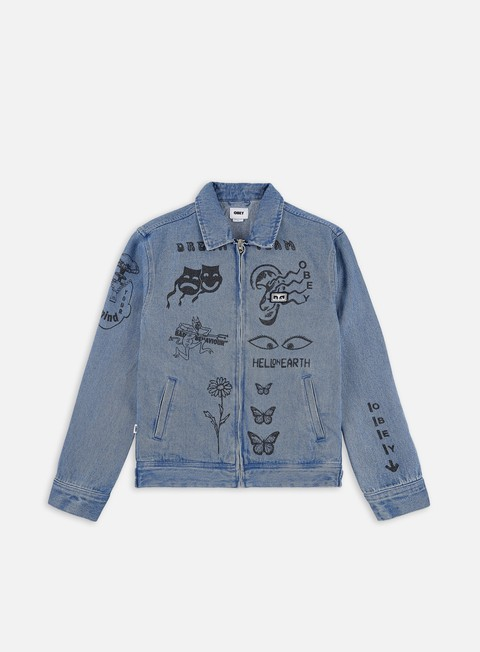 Giacche Leggere Obey Dream Team Denim Jacket