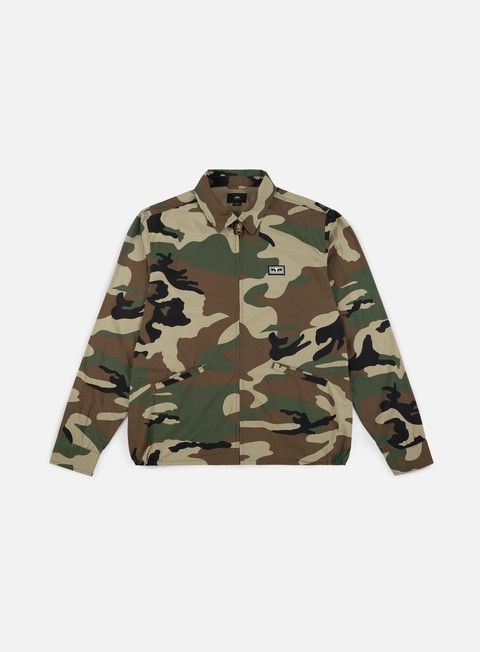 giacche obey driver jacket field camo