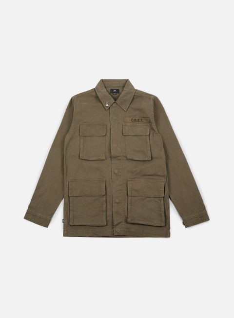 giacche obey faded jacket army