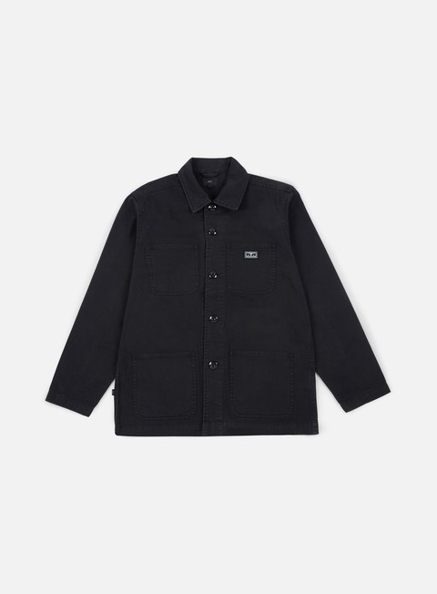 giacche obey hard work jacket black