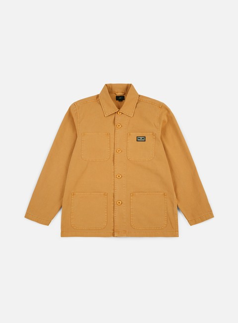 giacche obey hard work jacket dusty yellow