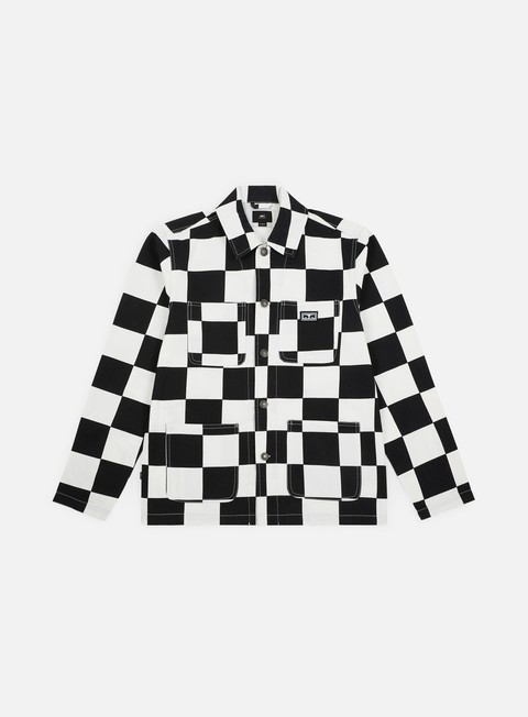 giacche obey hard work labor jacket checker