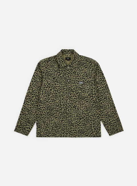 giacche obey hard work labor jacket khaki leopard