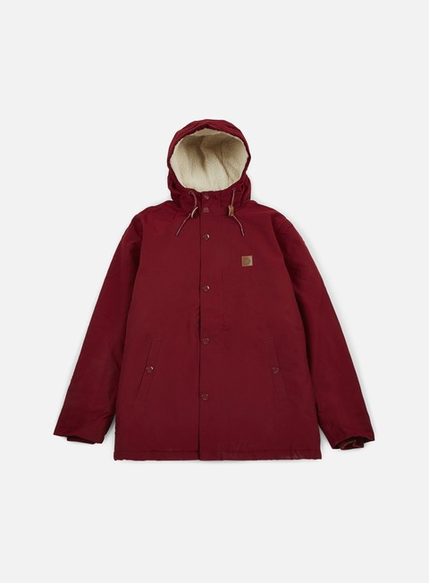 giacche obey hillman jacket burgundy