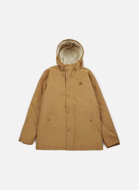 giacche obey hillman jacket tobacco