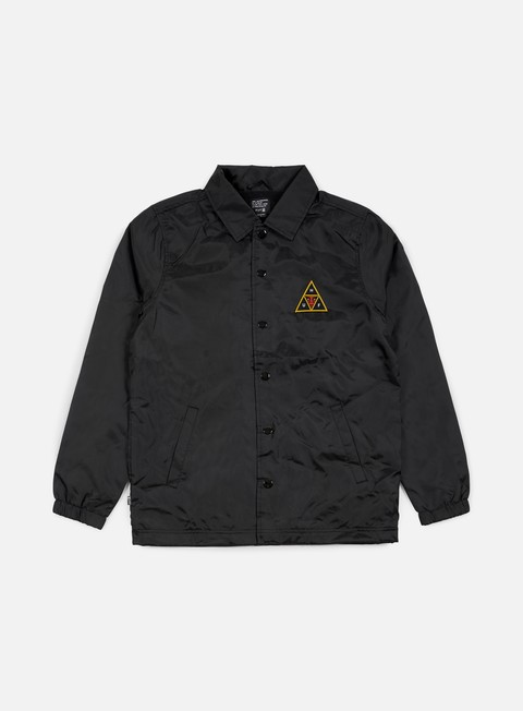 giacche obey huf coaches jacket black