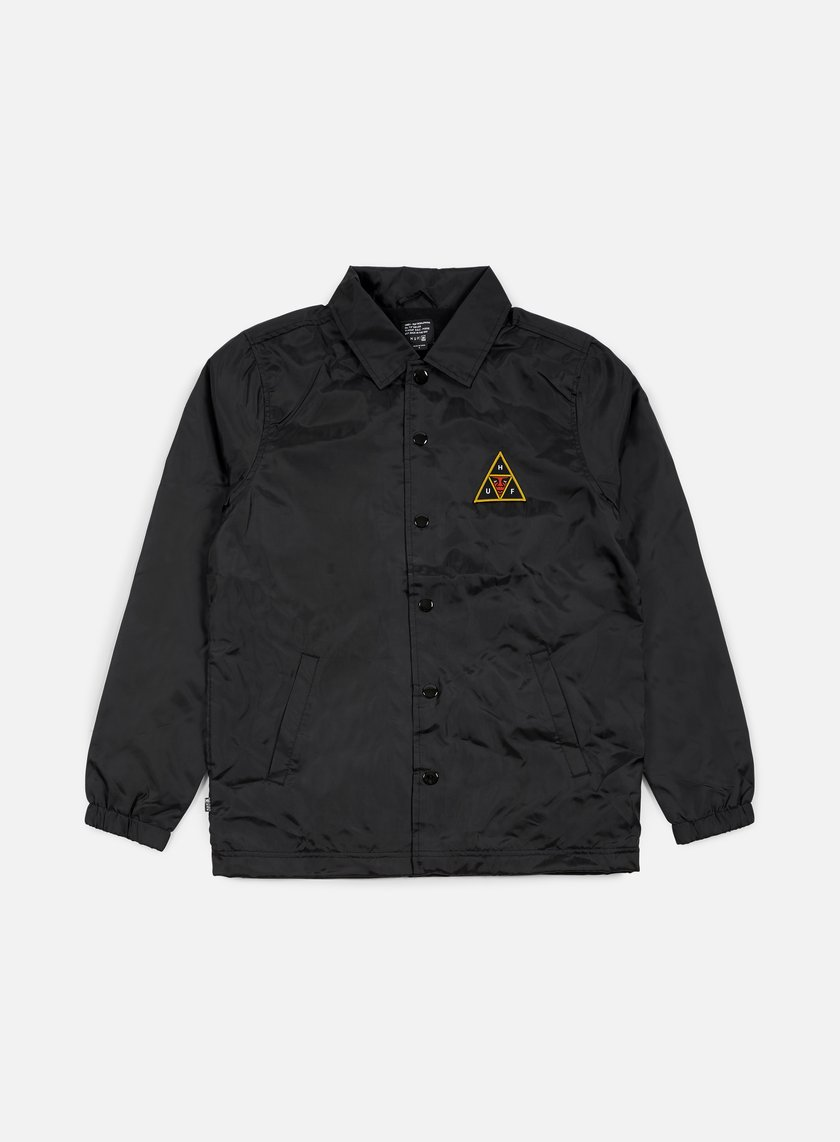 Obey - Huf Coaches Jacket, Black
