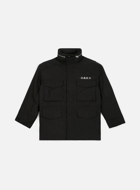 Obey Mens Iggy Insulated Military Inspired Jacket