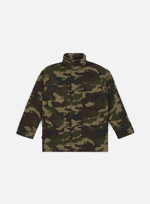 giacche obey iggy insulated jacket field camo