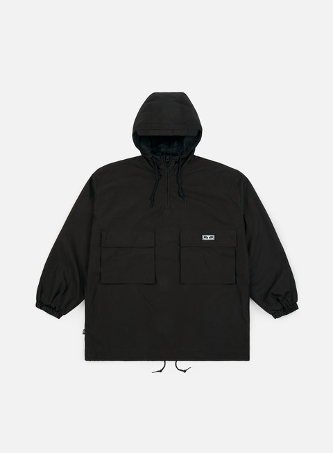 giacche obey lock down anorak jacket black