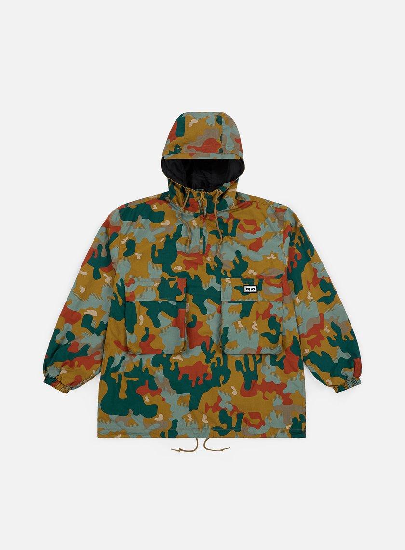 Obey - Lock Down Anorak Jacket, Drip Camo