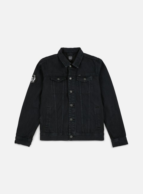 giacche obey misfits denim jacket black