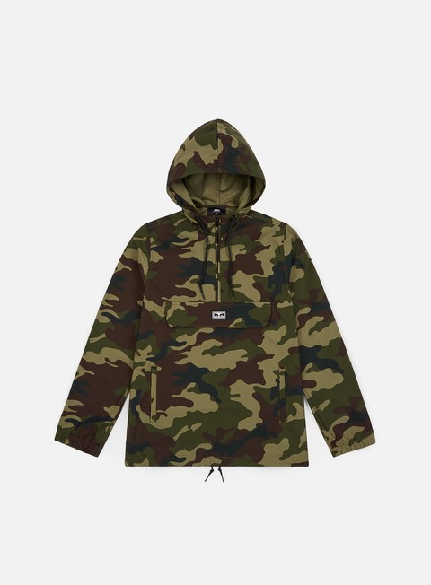 Sale Outlet Light Jackets Obey More Of Us Anorak Hoodie