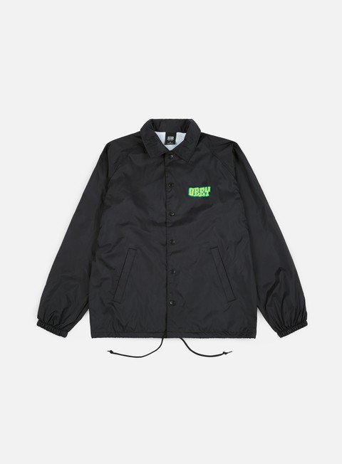 giacche obey obey better days coaches jacket black