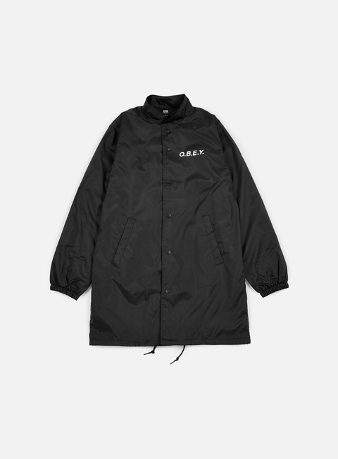 giacche obey obey coach jacket black