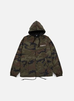Obey - O.B.E.Y. Hooded Coach Jacket, Field Camo 1