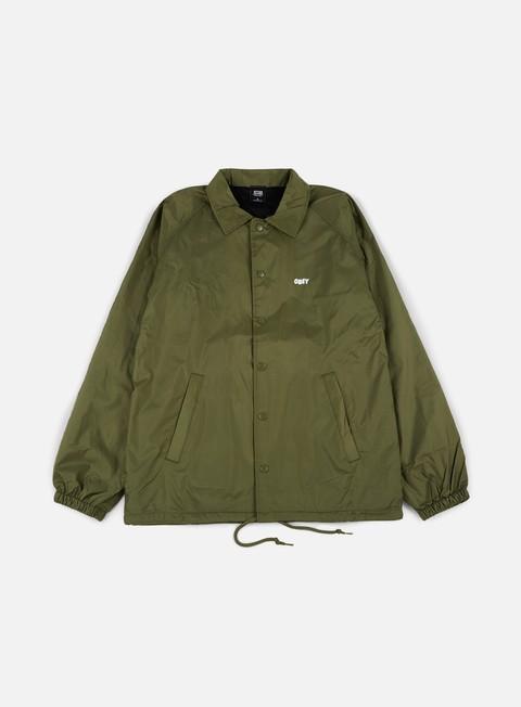 giacche obey obey jumble lo fi coach jacket army