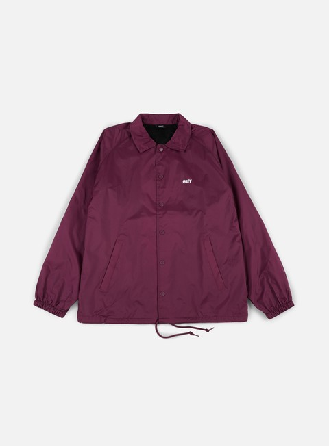 giacche obey obey jumble lo fi coach jacket raspberry