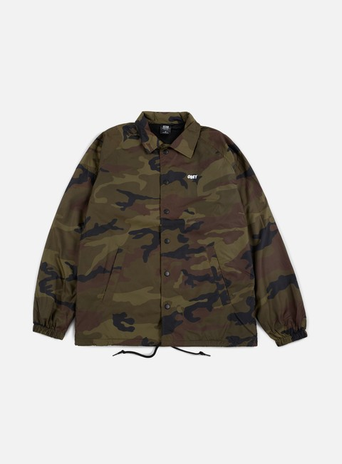 giacche obey obey lo fi classic coaches jacket field camo