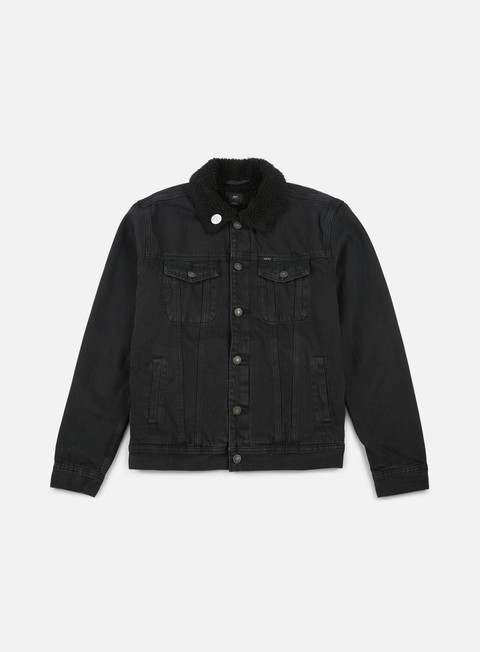 giacche obey off the chain jacket dusty black