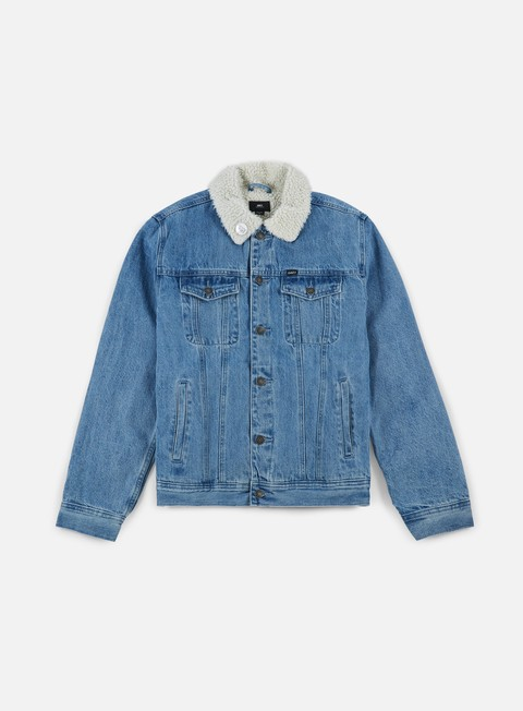 giacche obey off the chain jacket light indigo