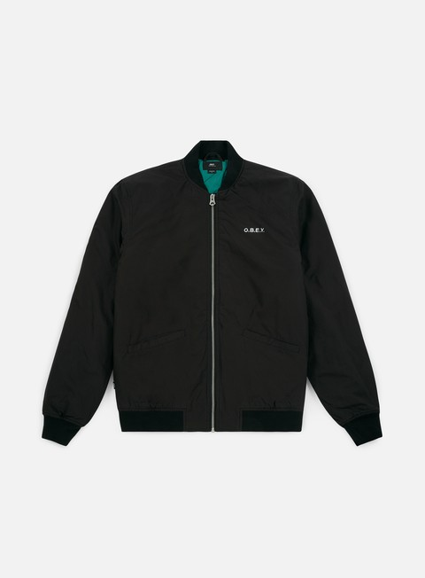 giacche obey outbound jacket black