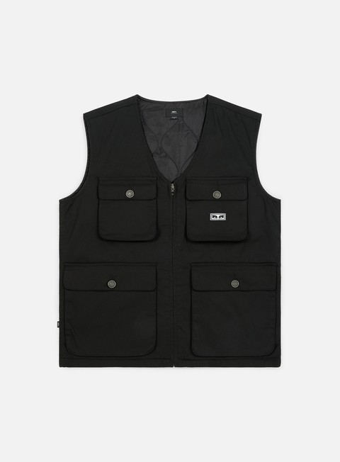 giacche obey packing vest black