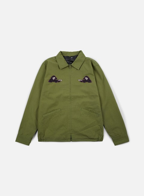 giacche obey reaper jacket army