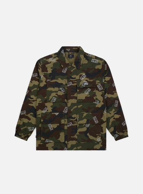 giacche obey rise up bdu jacket eyes field camo