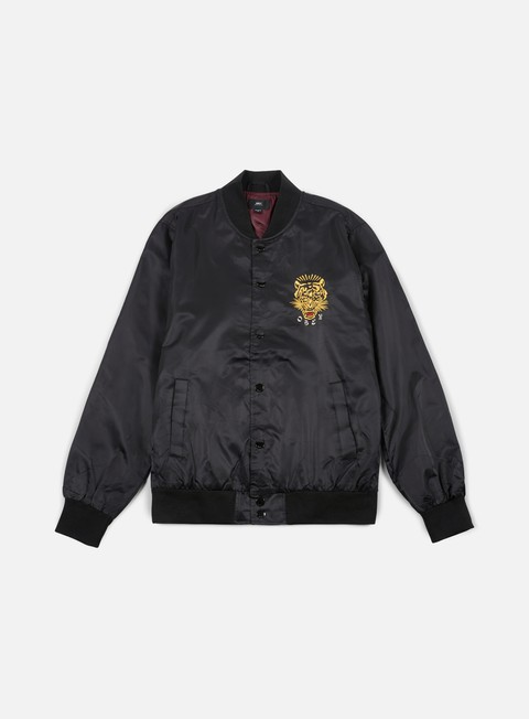 giacche obey savage satin jacket black