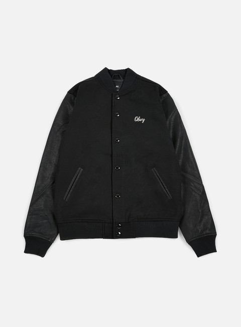 giacche obey soto collegiate jacket black