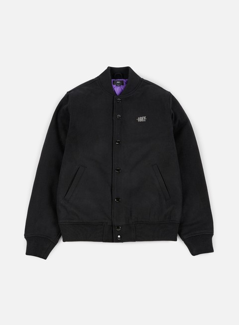 giacche obey soto varsity jacket black