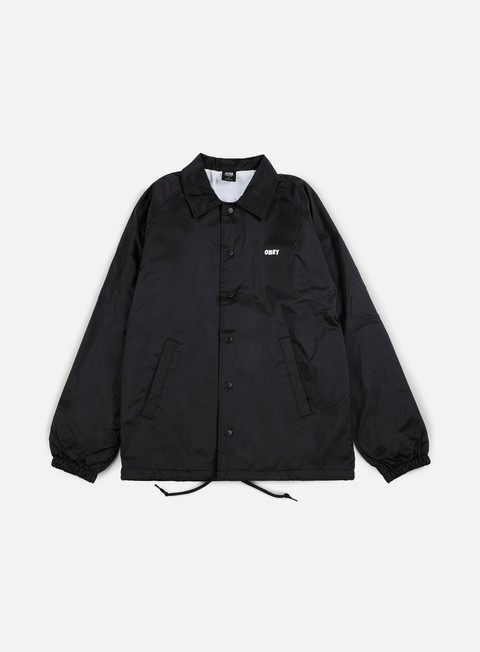 giacche obey the creeper classic coaches jacket black
