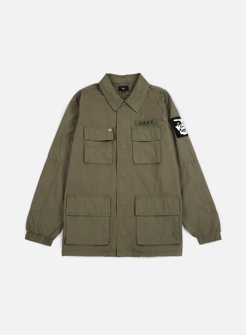 giacche obey tripper jacket light army