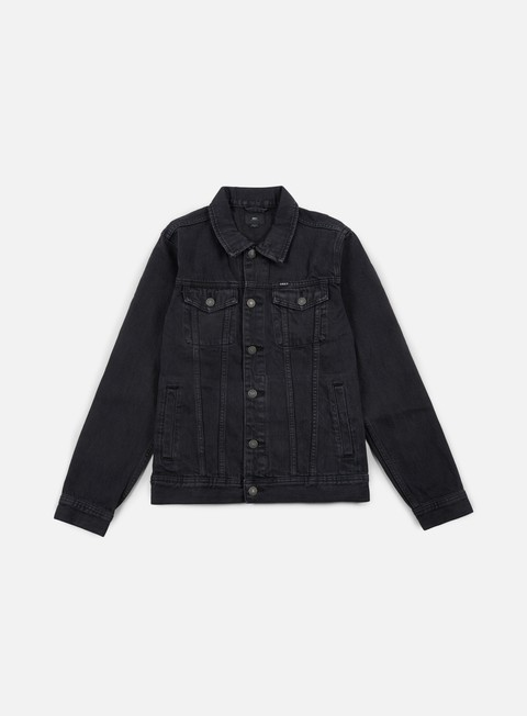 giacche obey vicious denim jacket dusty black