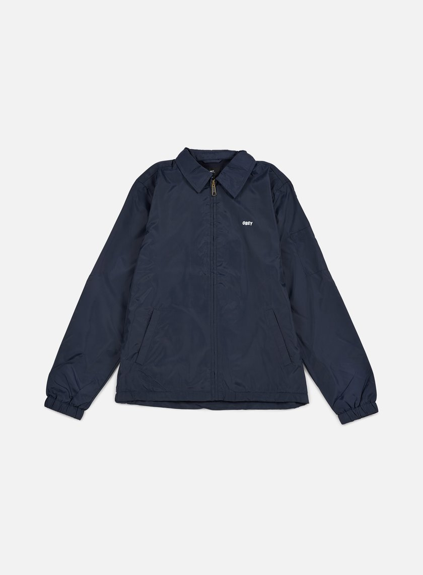 Obey - Wheels Graphic Jacket, Navy