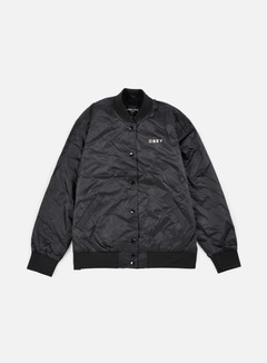 Obey - WMNS Hooligans Satin Bomber Jacket, Black