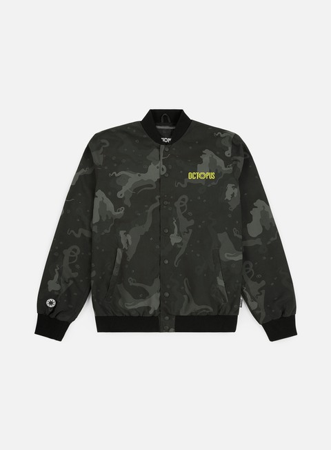 Light Jackets Octopus Octopus Camo Varsity Jacket